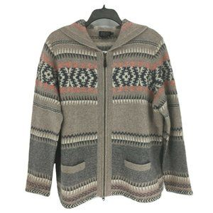 NEW Pendleton Hooded Wool/Alpaca Cardigan PXL